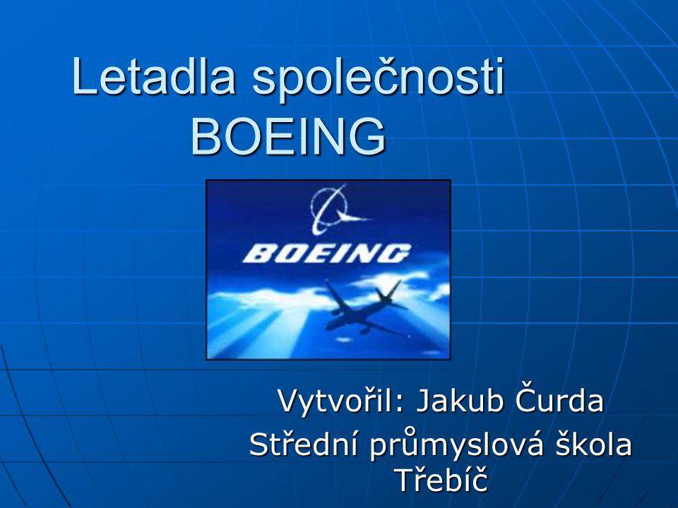 Letadla společnosti BOEING