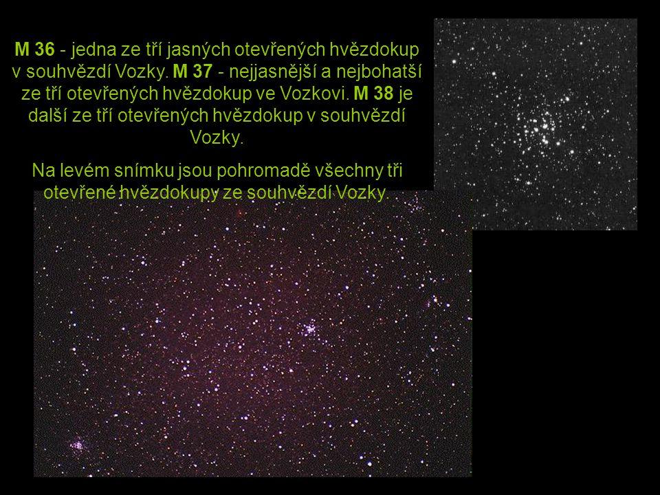 M 36 - jedna ze tří jasných otevřených hvězdokup v souhvězdí Vozky
