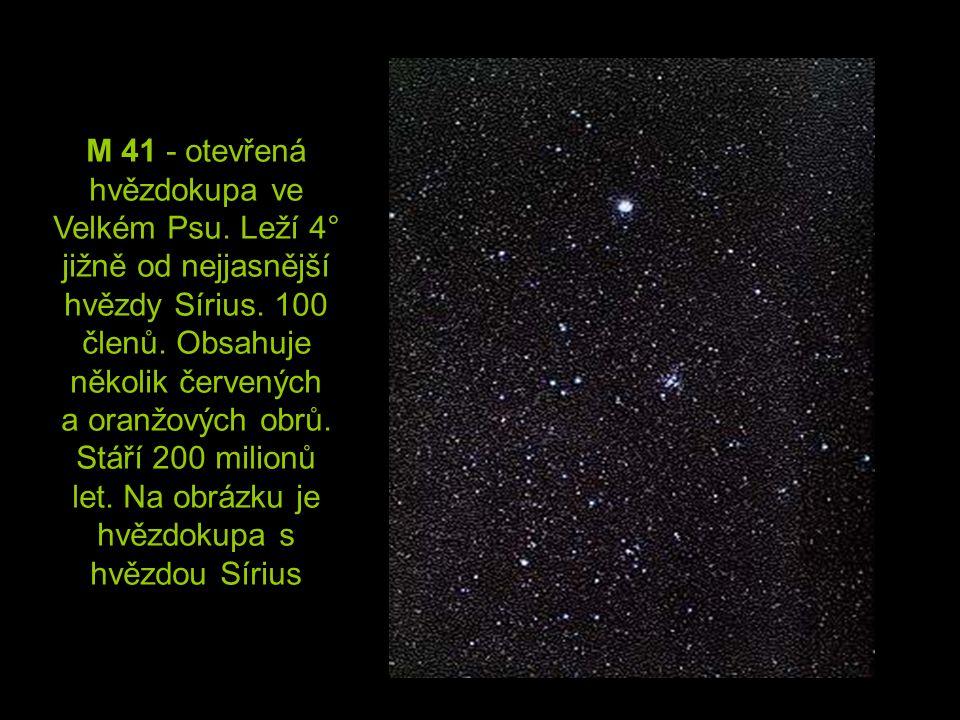 M 41 - otevřená hvězdokupa ve Velkém Psu