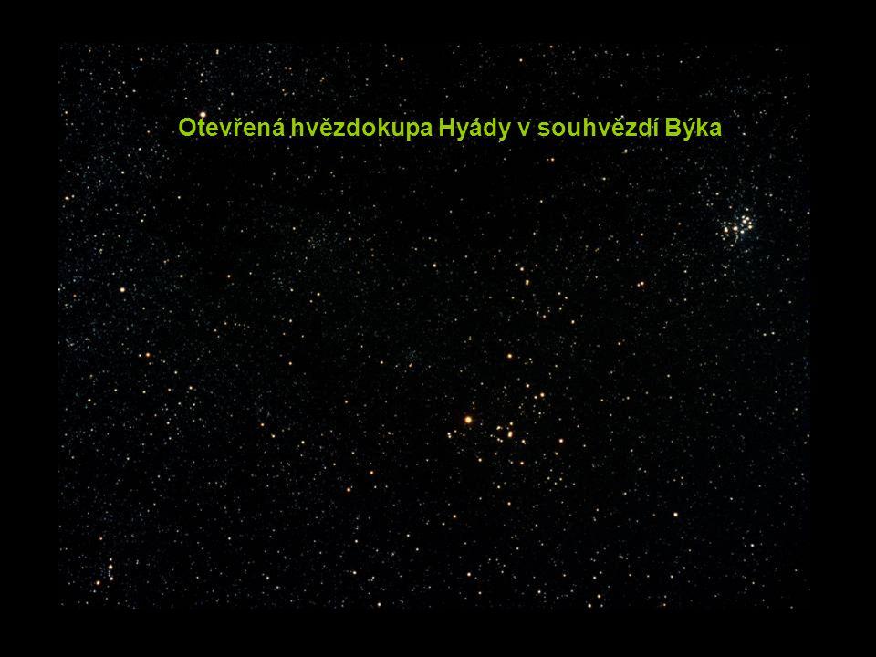 Otevřená hvězdokupa Hyády v souhvězdí Býka