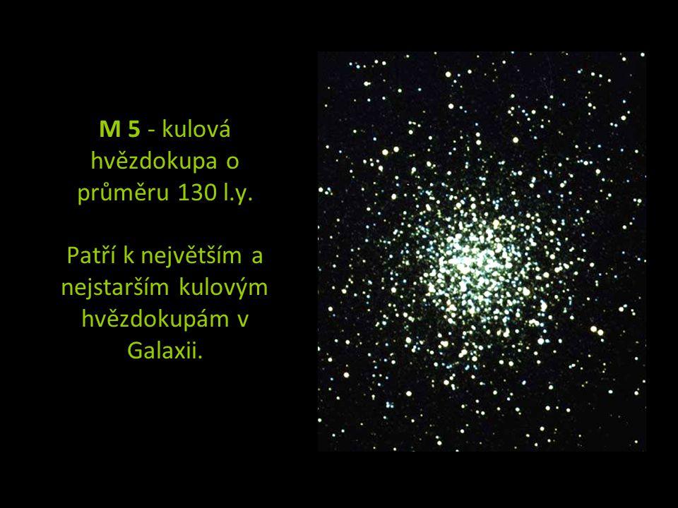 M 5 - kulová hvězdokupa o průměru 130 l. y