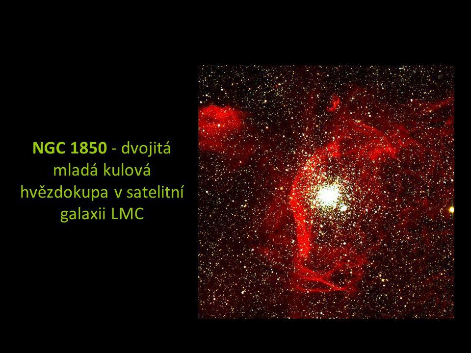 NGC 1850 - dvojitá mladá kulová hvězdokupa v satelitní galaxii LMC