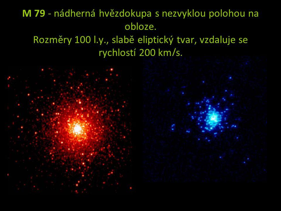 M 79 - nádherná hvězdokupa s nezvyklou polohou na obloze.