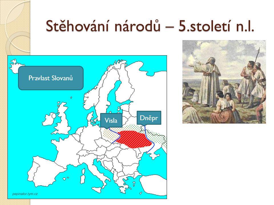 Stěhování národů – 5.století n.l.