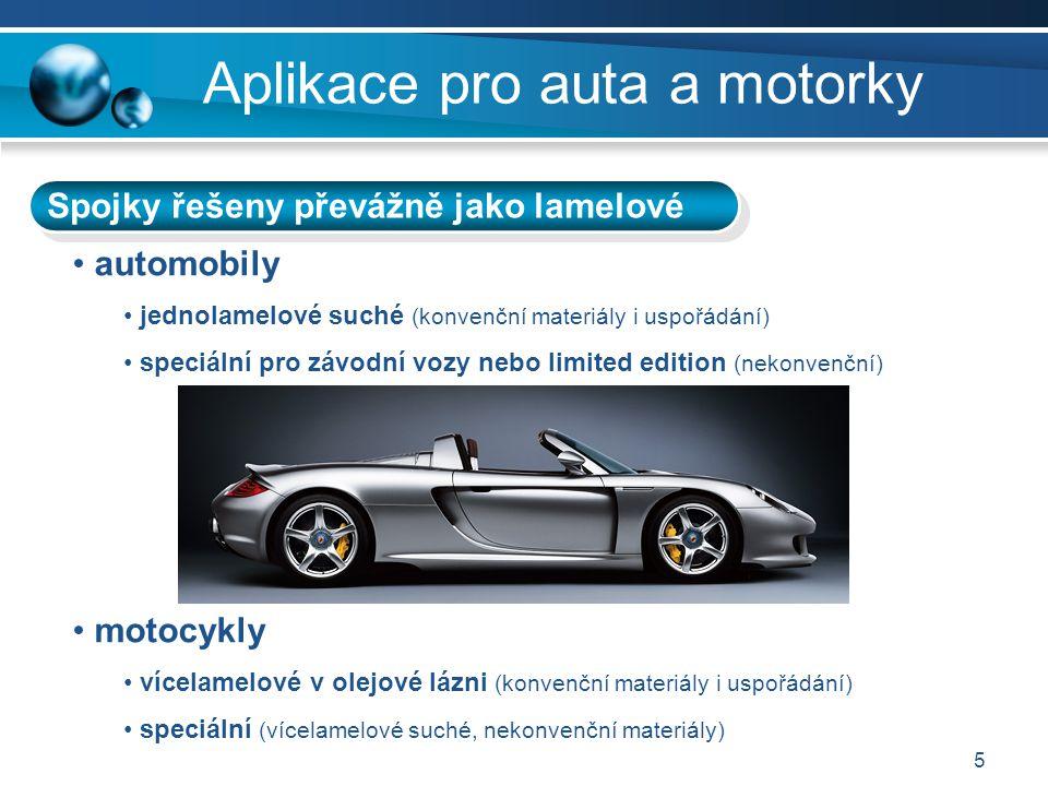 Aplikace pro auta a motorky