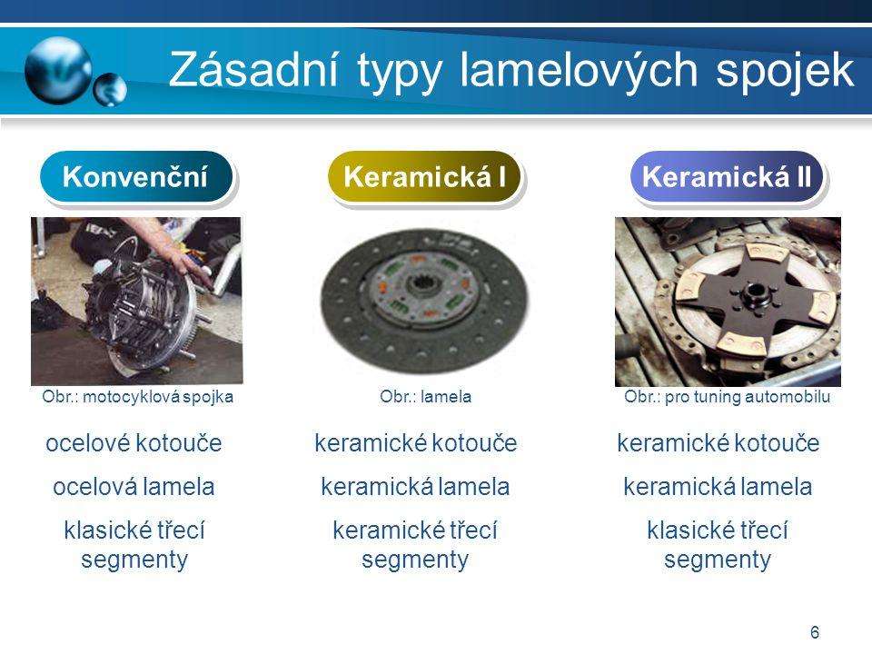 Zásadní typy lamelových spojek
