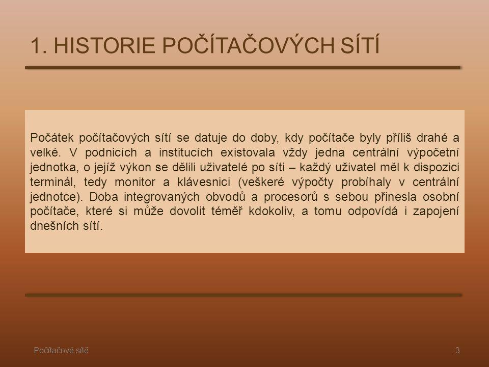 1. HISTORIE POČÍTAČOVÝCH SÍTÍ