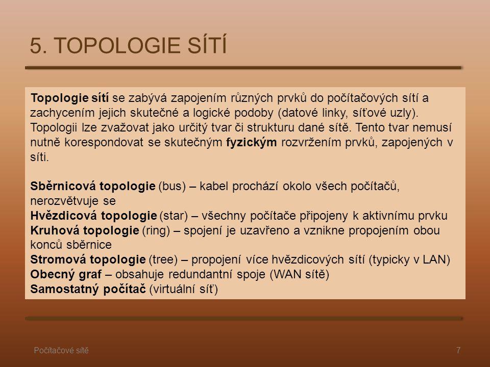 5. TOPOLOGIE SÍTÍ