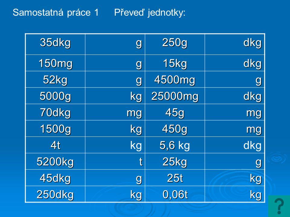 35dkg g 250g dkg 150mg 15kg 52kg 4500mg 5000g kg 25000mg 70dkg mg 45g
