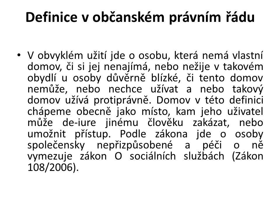 Definice v občanském právním řádu