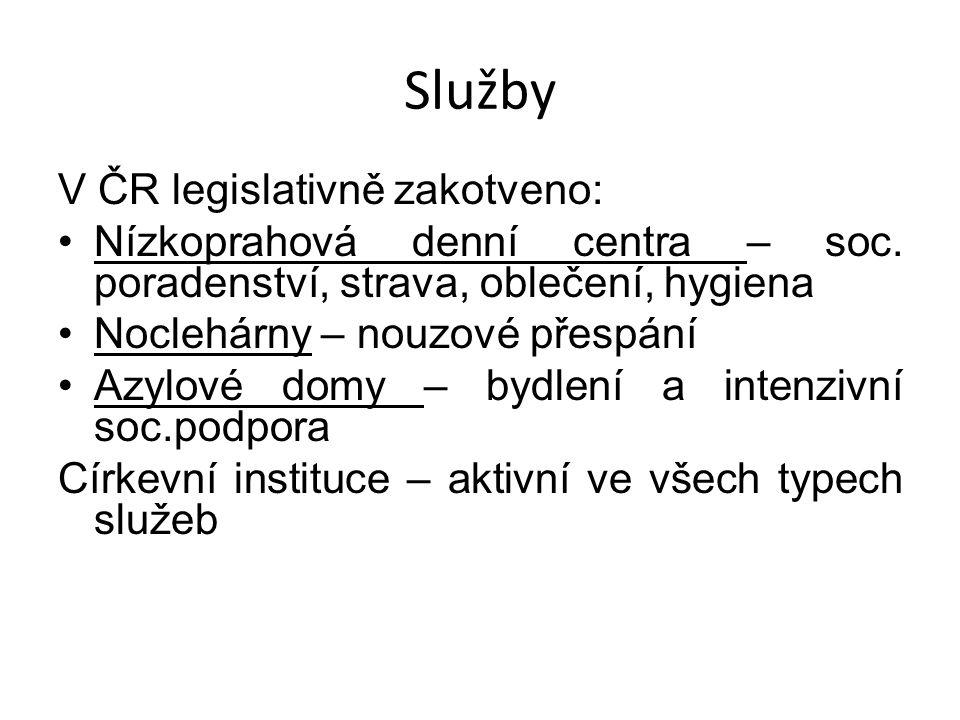 Služby V ČR legislativně zakotveno: