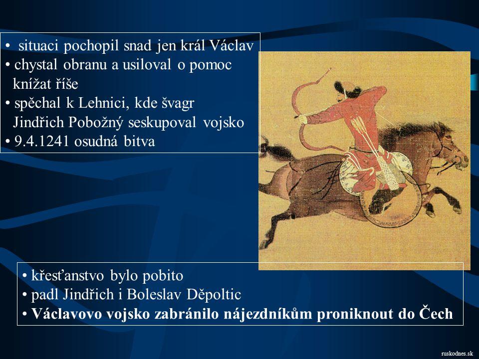 situaci pochopil snad jen král Václav