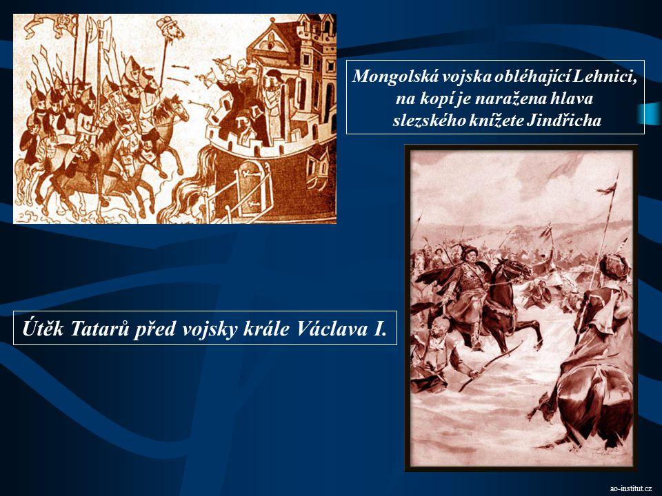 Útěk Tatarů před vojsky krále Václava I.