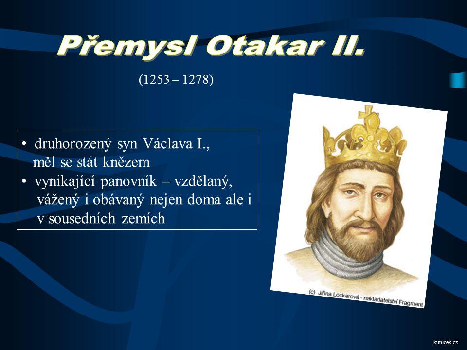 Přemysl Otakar II. druhorozený syn Václava I., měl se stát knězem