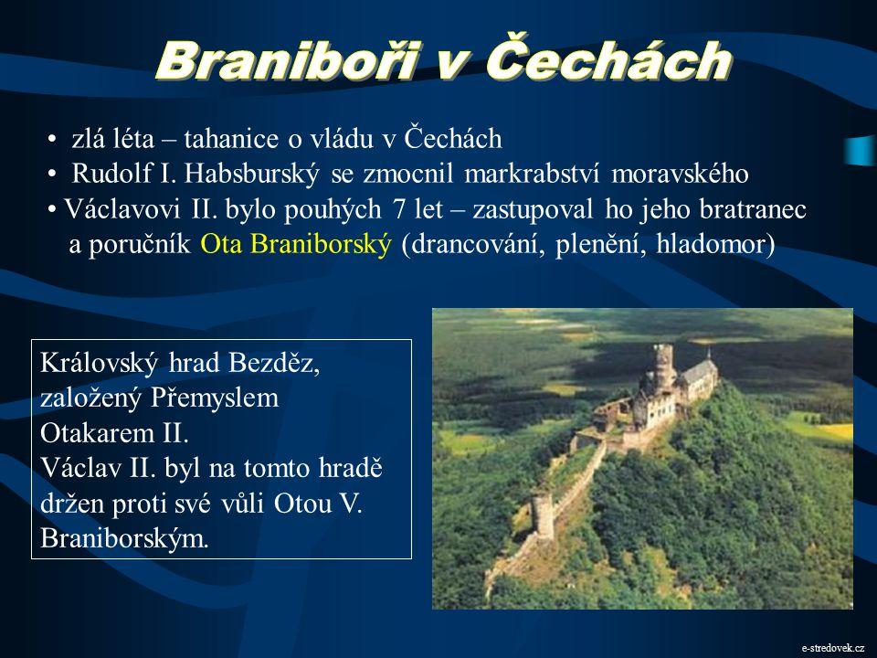 Braniboři v Čechách zlá léta – tahanice o vládu v Čechách