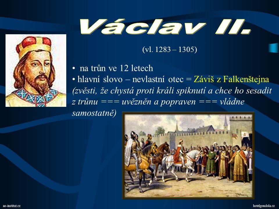 Václav II. na trůn ve 12 letech