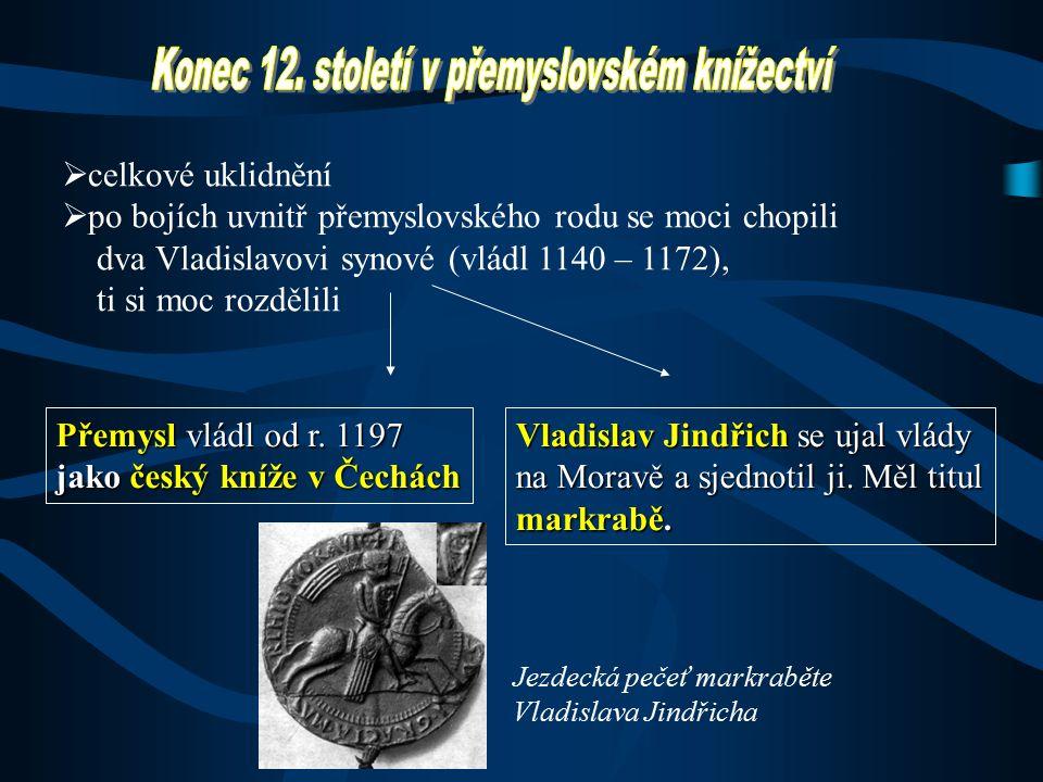 Konec 12. století v přemyslovském knížectví