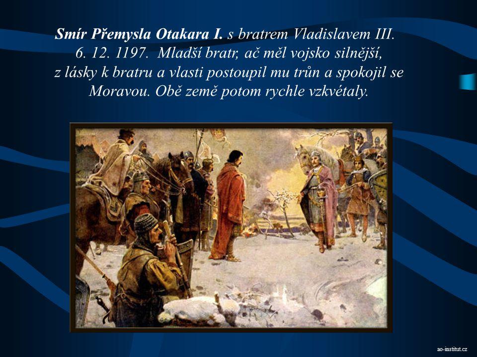 Smír Přemysla Otakara I. s bratrem Vladislavem III.