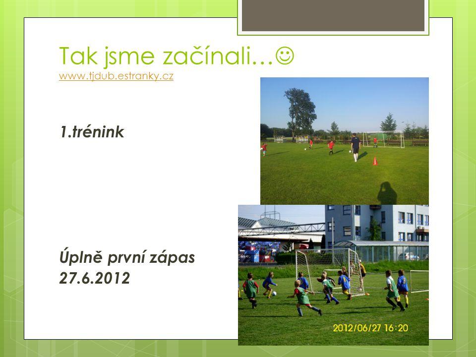 Tak jsme začínali… www.tjdub.estranky.cz