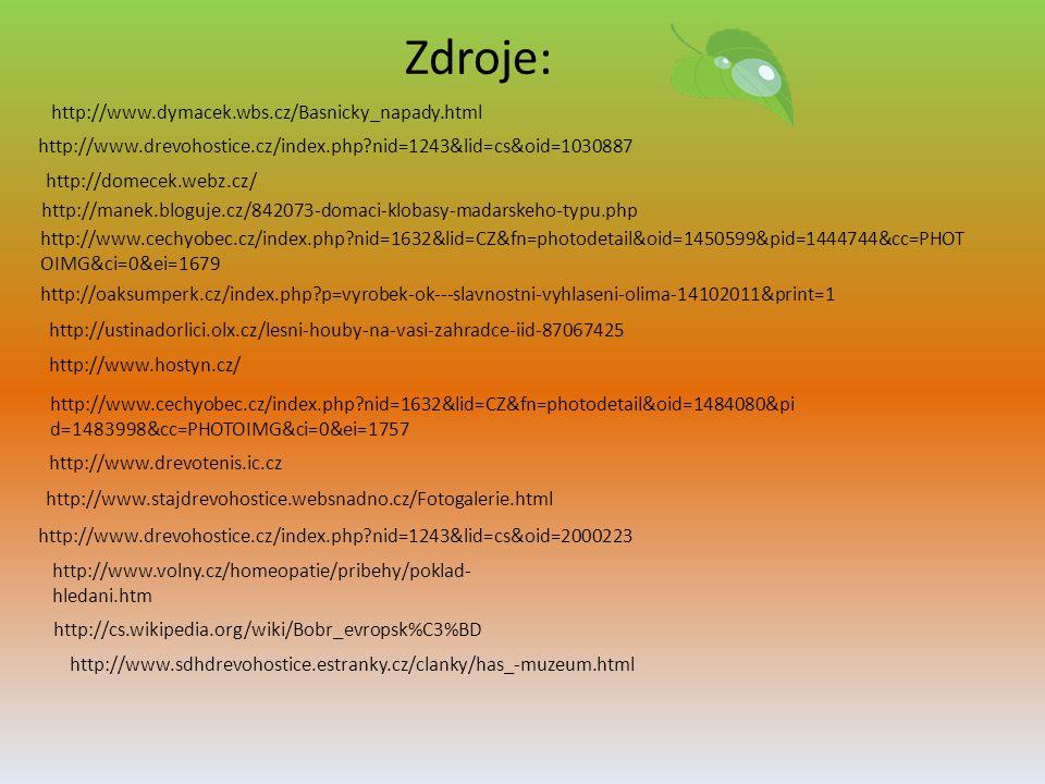 Zdroje: http://www.dymacek.wbs.cz/Basnicky_napady.html