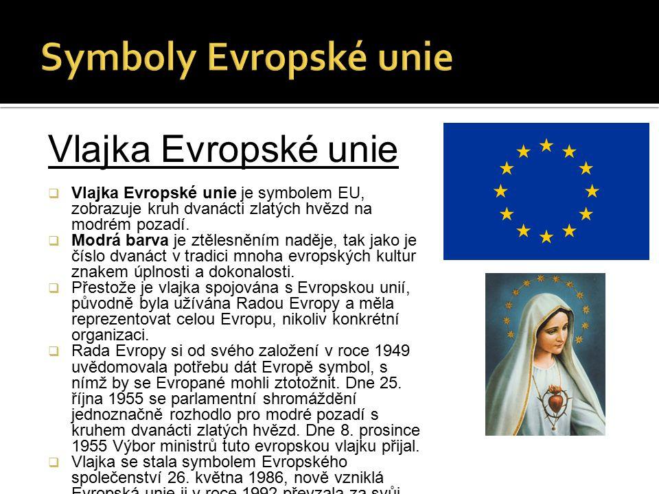 Symboly Evropské unie Vlajka Evropské unie