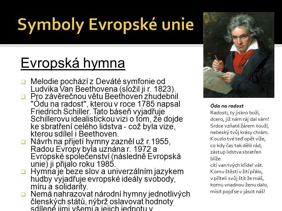 Symboly Evropské unie Evropská hymna