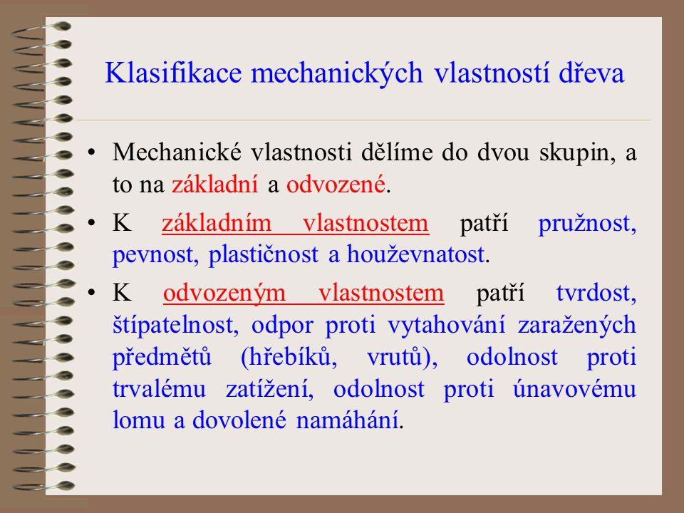Klasifikace mechanických vlastností dřeva