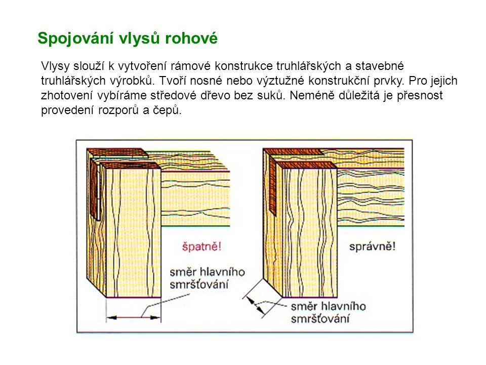 Spojování vlysů rohové
