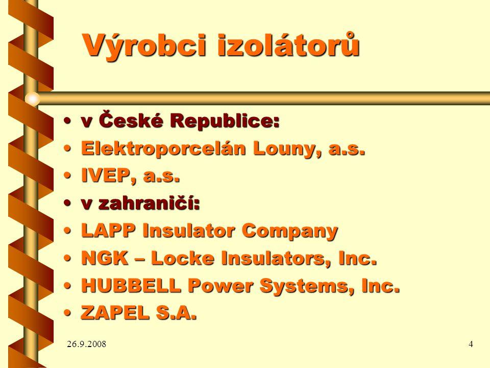 Výrobci izolátorů v České Republice: Elektroporcelán Louny, a.s.