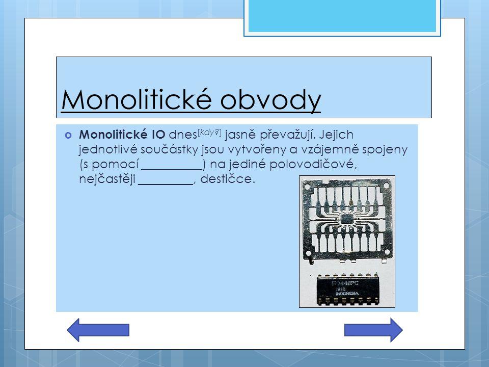 Monolitické obvody