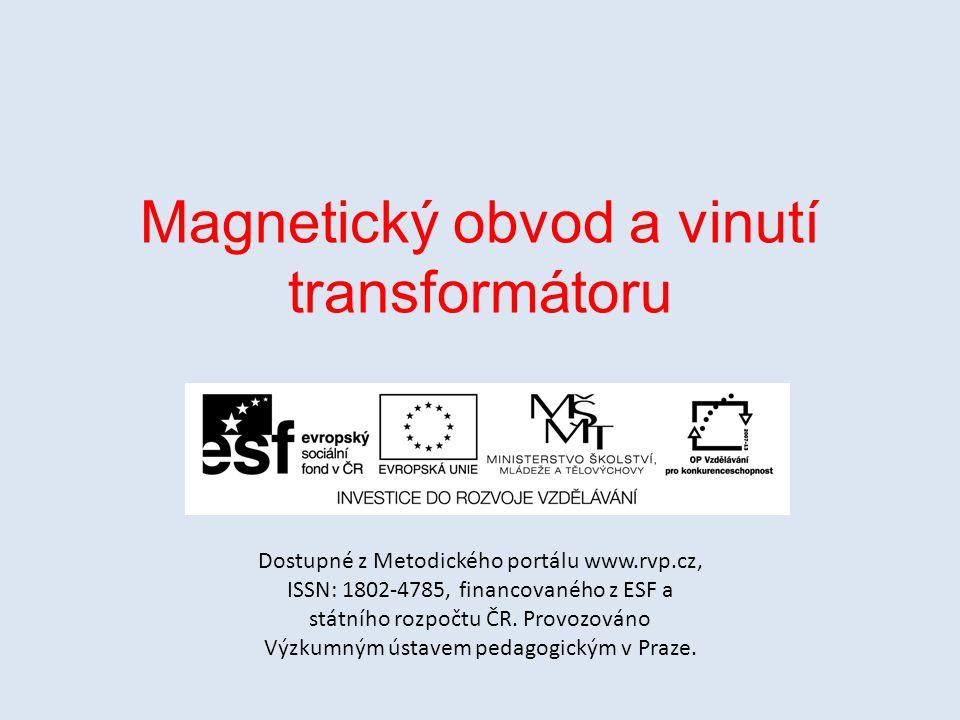 Magnetický obvod a vinutí transformátoru