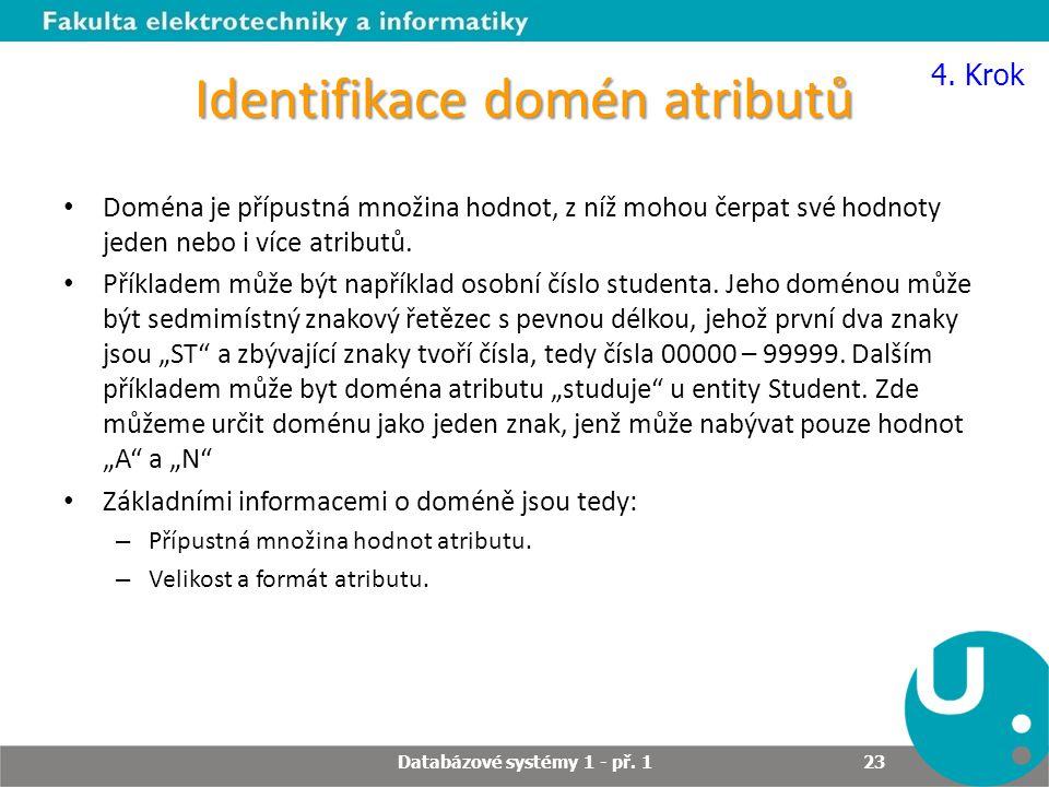 Identifikace domén atributů