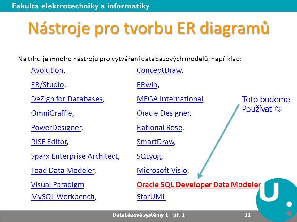 Nástroje pro tvorbu ER diagramů