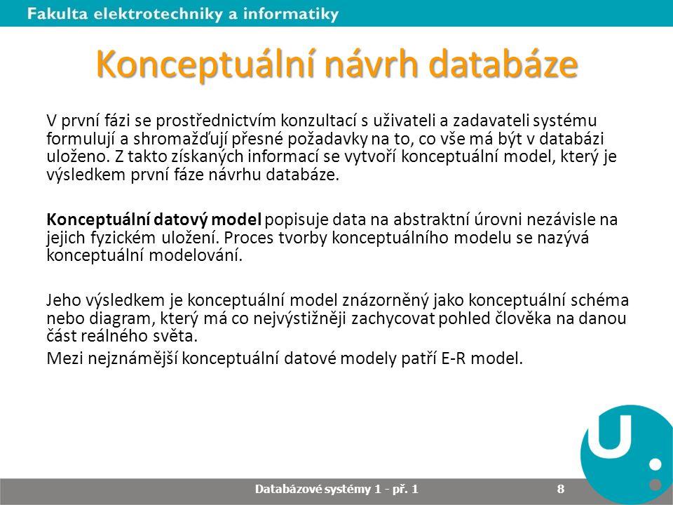 Konceptuální návrh databáze