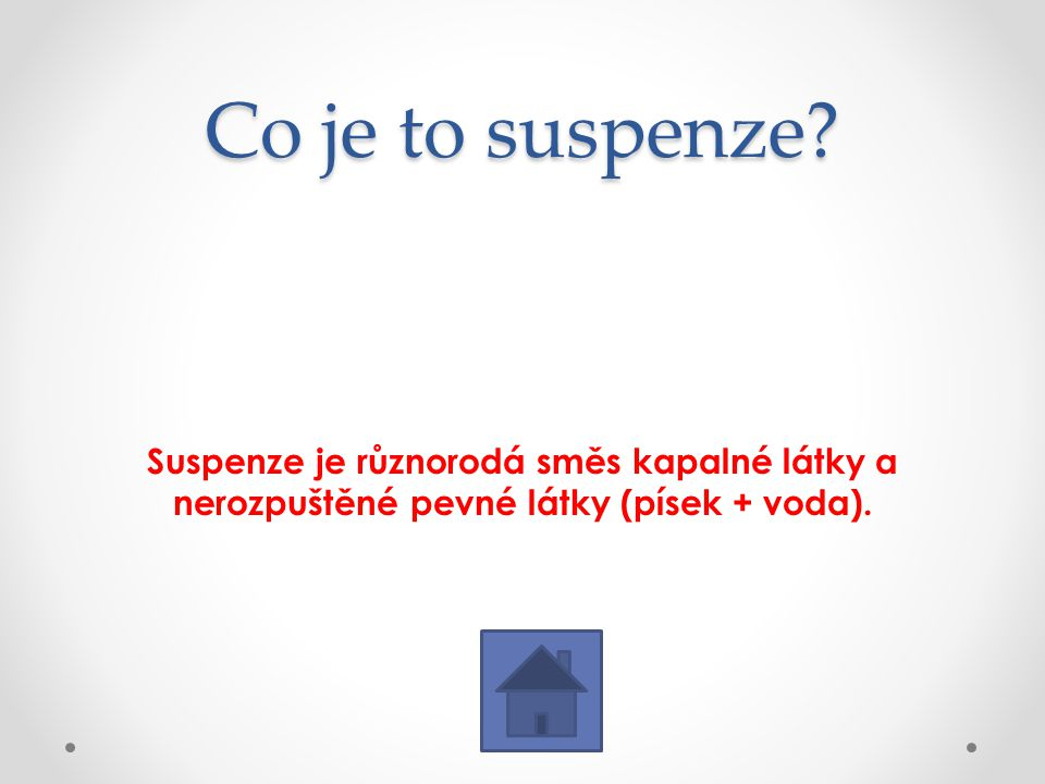 Co je to suspenze.