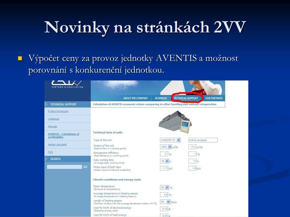 Novinky na stránkách 2VV
