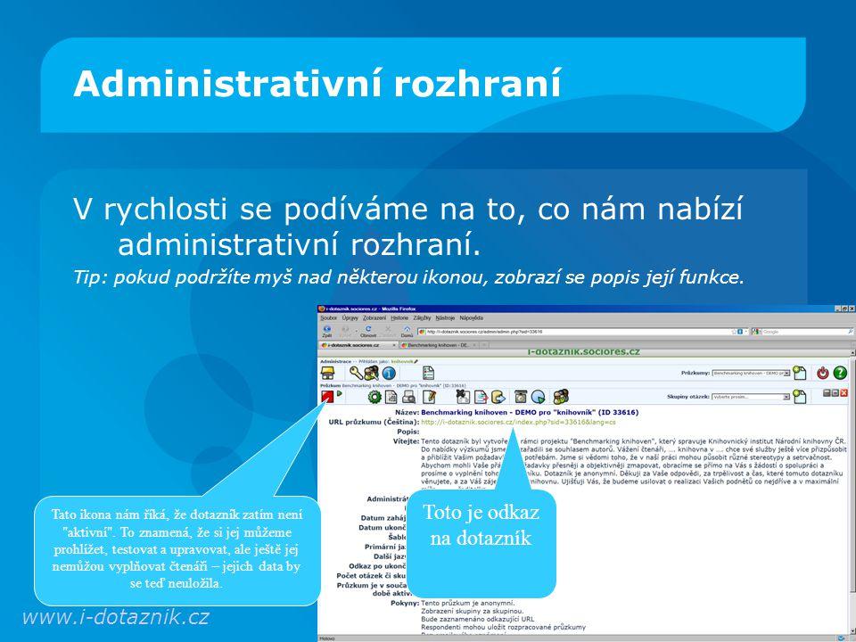 Administrativní rozhraní