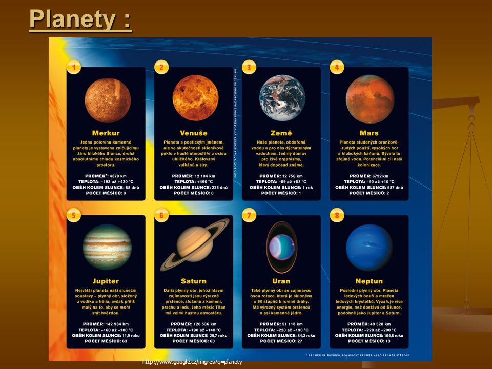 Planety : http://www.google.cz/imgres q=planety
