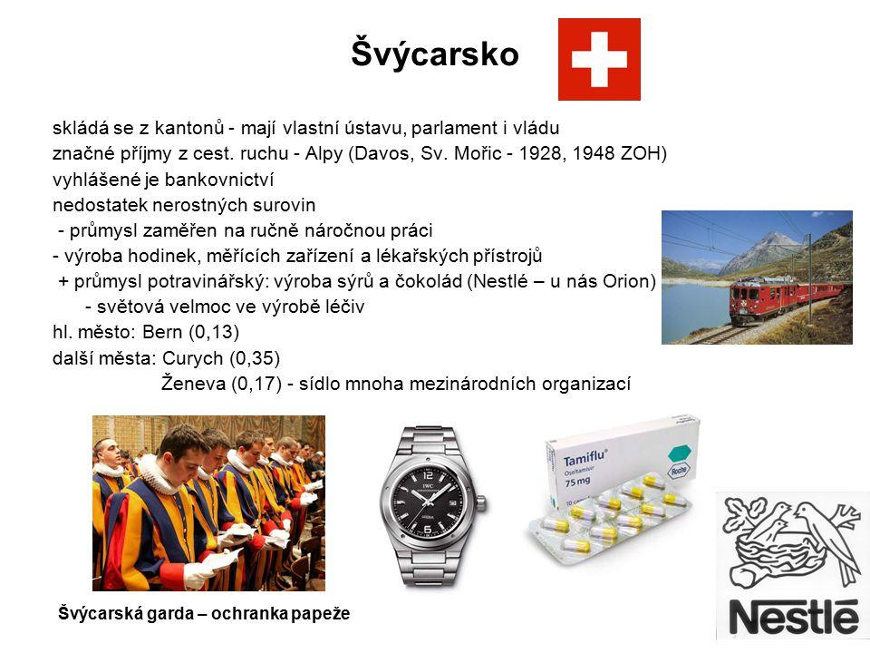 Švýcarsko skládá se z kantonů - mají vlastní ústavu, parlament i vládu