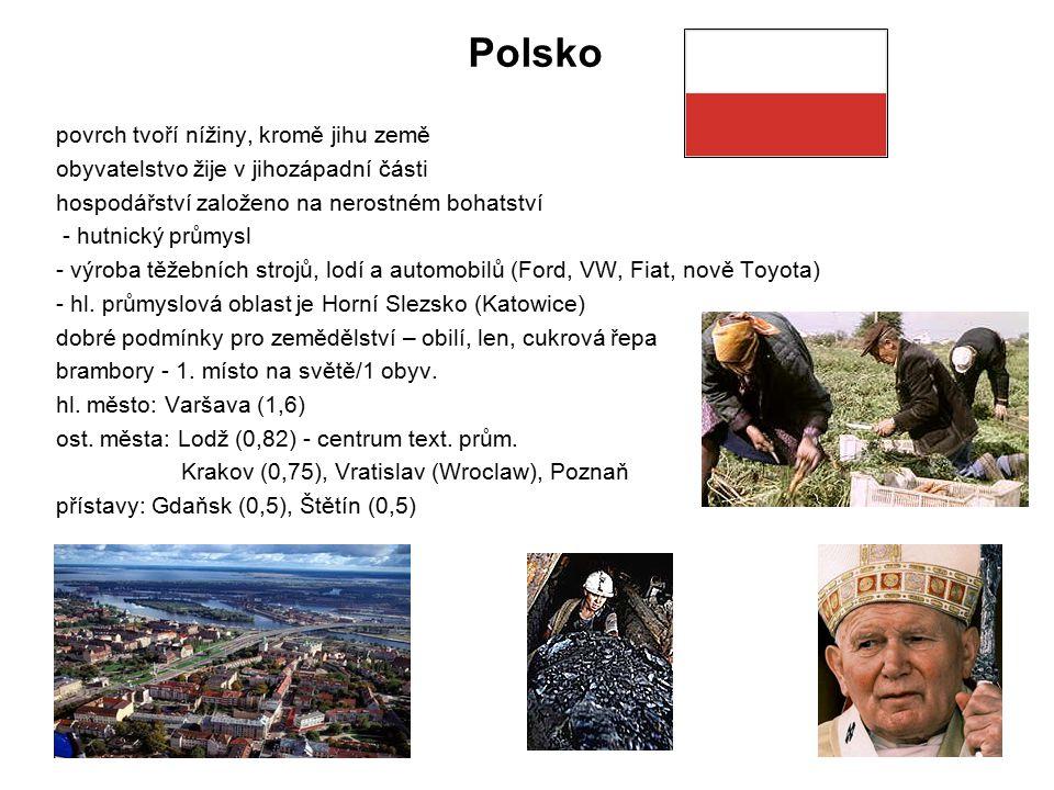 Polsko povrch tvoří nížiny, kromě jihu země
