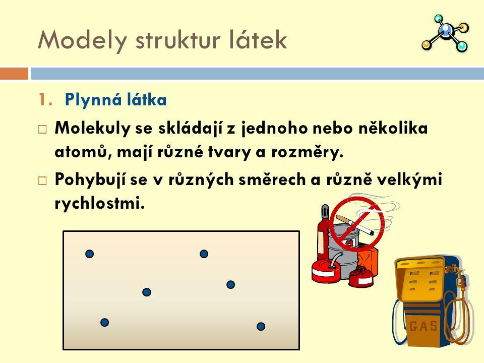 Modely struktur látek Plynná látka