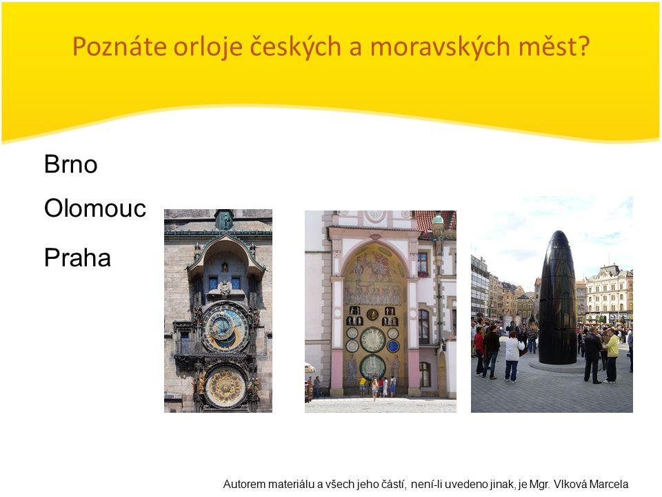 Poznáte orloje českých a moravských měst