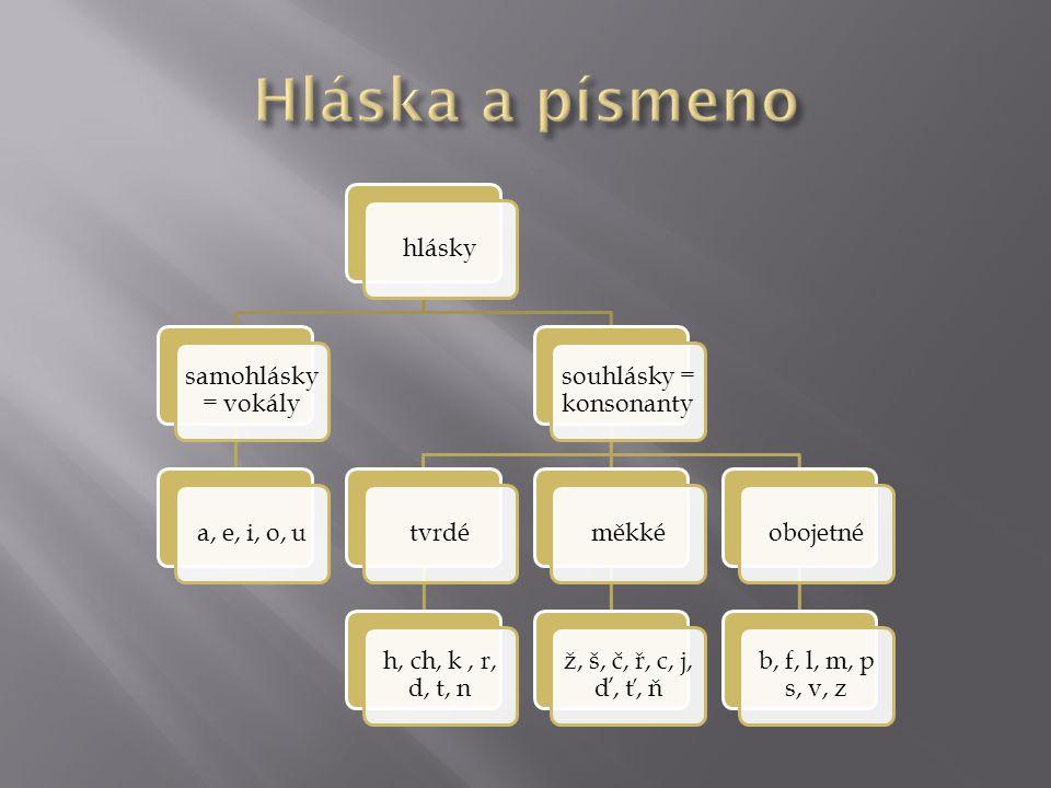 souhlásky = konsonanty