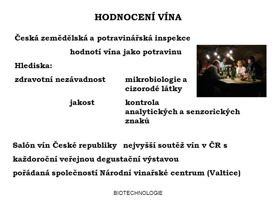 HODNOCENÍ VÍNA Česká zemědělská a potravinářská inspekce