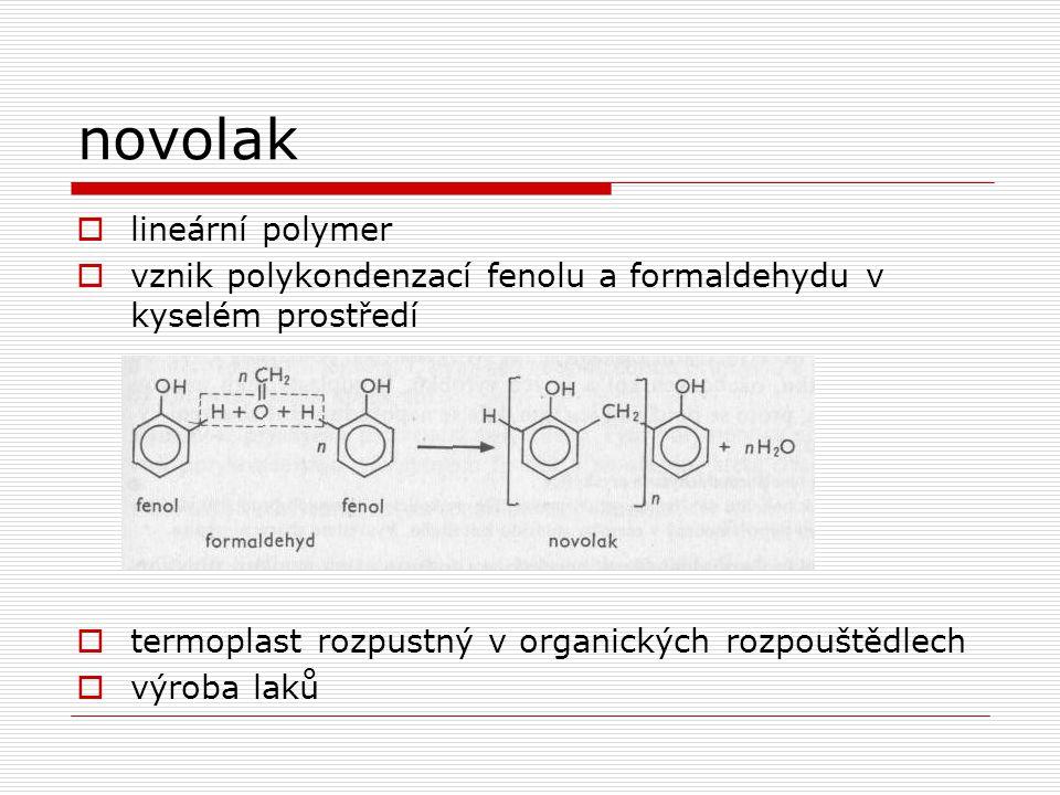 novolak lineární polymer