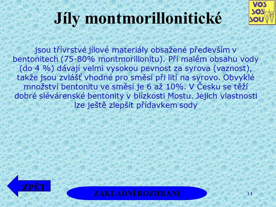 Jíly montmorillonitické