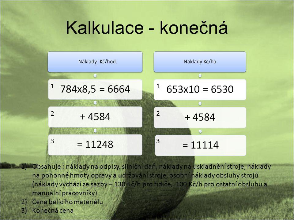 Kalkulace - konečná 1. 1. 2. 2. 3. 3.