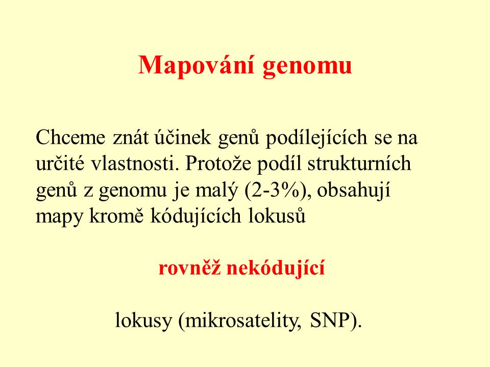 lokusy (mikrosatelity, SNP).