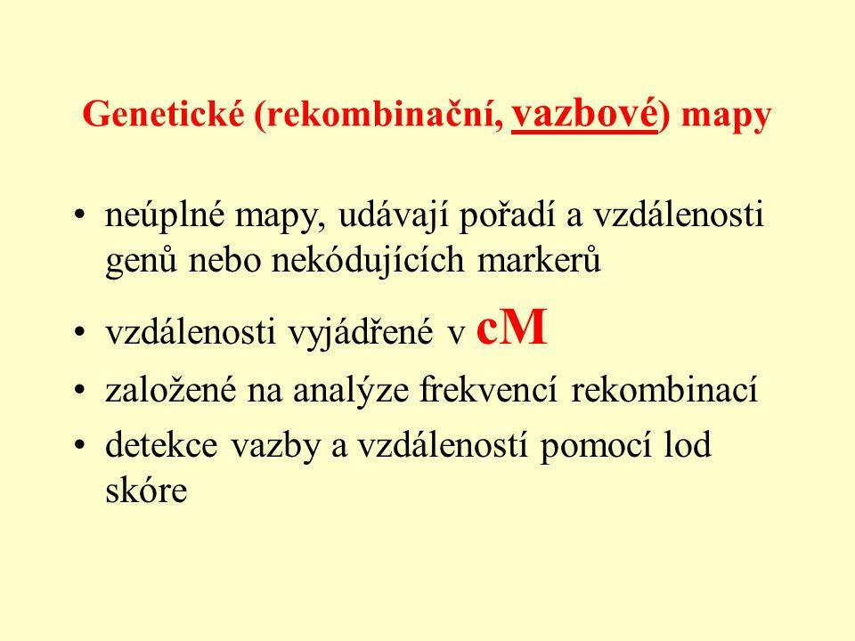 Genetické (rekombinační, vazbové) mapy
