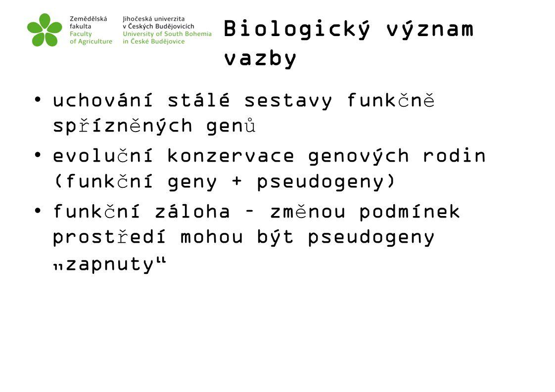 Biologický význam vazby